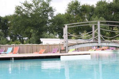 Camping Frankrijk Landes : Grand bassin chauffé